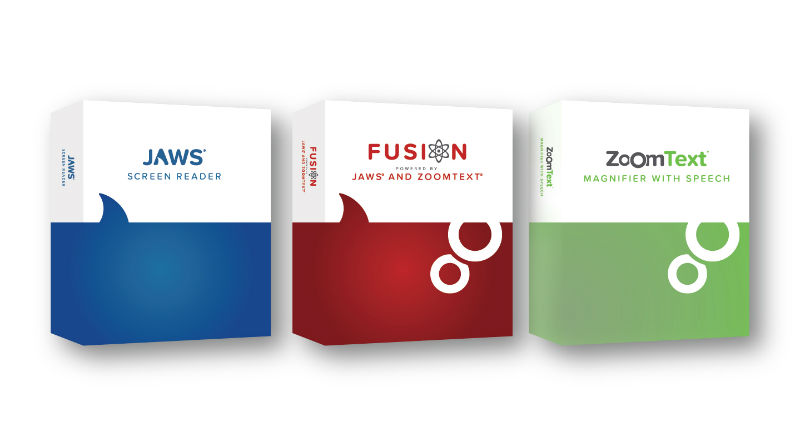 JAWS, Fusion and ZoomText logo